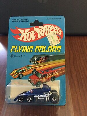 Hot Wheels Lickety Six Blackwall.  Blue In Blue Flying Colors BP.