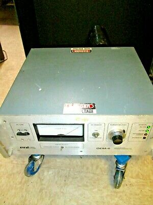Rf Generator 13.56mhz 750w Tested Plasma Or Sputtering Applications Eni Oem-6m