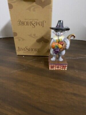 Jim Shore Heartwood Creek Pint Size #4036237 Harvest CAT Everyone Give Thanks