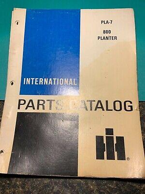 International Pla-7 800 Planter Parts Catalog