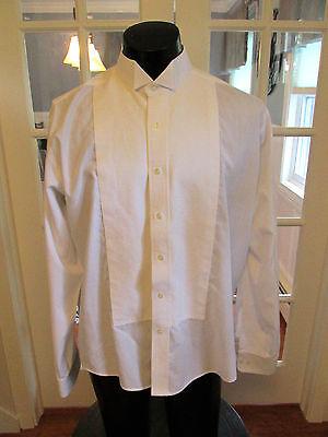 MENS VINTAGE  PIQUE WING TIP TUXEDO SHIRT CLASSIC 16-16 1/2-36/37 (Classic Wingtip Tuxedo Shirt)