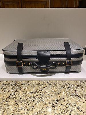 Vintage Gucci Luggage Blue GG Logo Suitcase Soft Side Navy Monogram Large