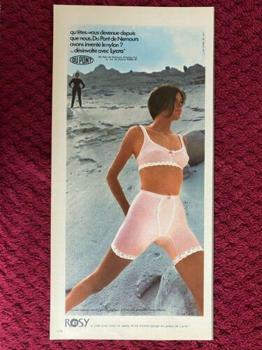 1969 ROSY Panty & Bra  , girdle  French   MAGAZINE PRINT AD ( 2/3 pg )