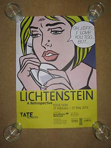 ROY LICTENSTEIN:TATE GALLERY EXHIBITION POSTER