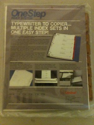 (5) Cardinal Daily Use OneStep Index System Typewriter to Copier 8 Brown - One Step Index System Copier