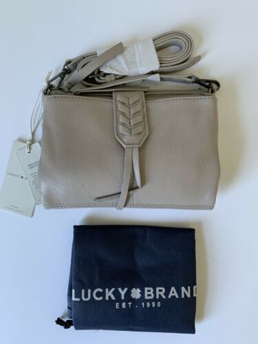 NWT Lucky Brand Amber Convertible Leather Wallet Crossbody C