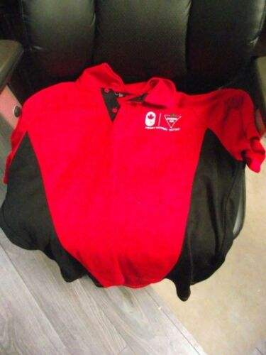 CANADIAN TIRE RED AND BLACK PREMIER PARTNER MENS T SHIRT SIZE L