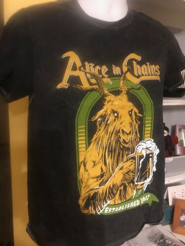 Alice in Chains established 1987 Goat Head T-shirt new size M