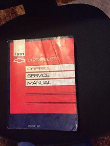 1991 Chevrolet Caprice GM Dealership Grade Service Manual