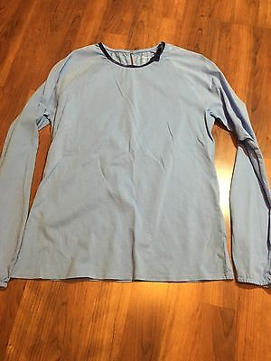 Lands End Girls Bow - Lands End Girls Long Sleeve Shirt Baby Blue With Velvet Bow Size XL 16
