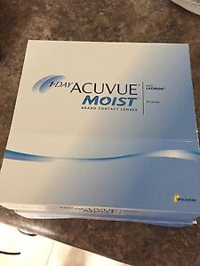 1-Day Acuvue Moist Daily Contacts - 60 day supply