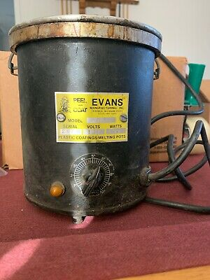 Evans Ap 4 Plastic Coatings-melting Pot Serial 2676 115v 600w