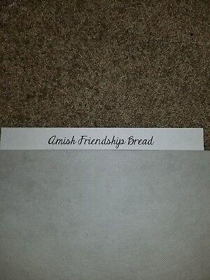 Ex Amish Friendship Bread Includes Starter Recipe