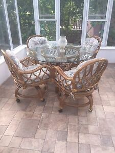 Wicker Dinette Set