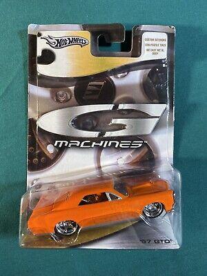 2005 Hot Wheels G Machines '67 1967 PONTIAC GTO Orange NEW 1:50 Scale