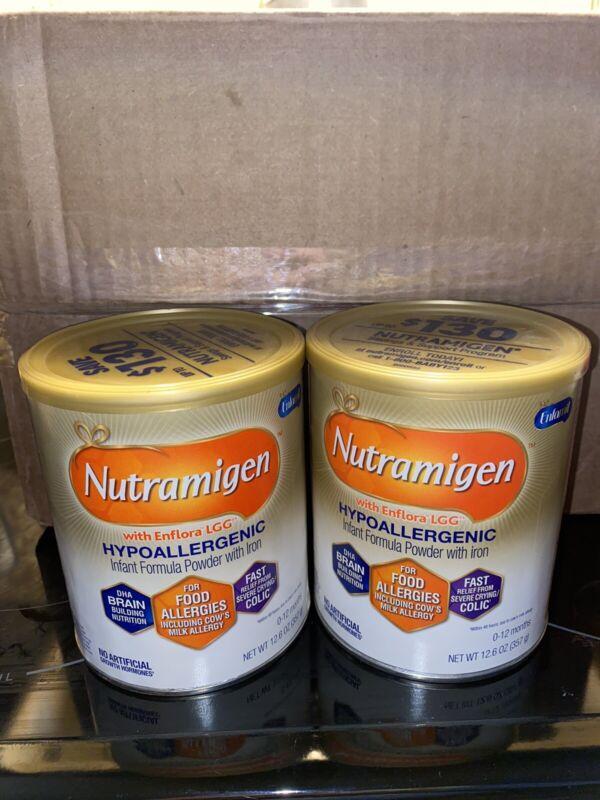 2 Unopened Cans nutramigen baby formula