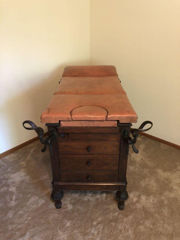 Rare!  Antique Gynecological Exam Table ~ Vintage!