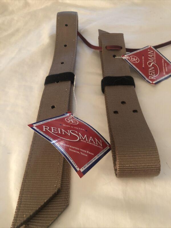 Reinsman Heavy Cinch Latigo Strap and Off Billet Set Double Nylon Brown Premium