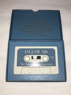 Jaguar XJ6 Audio Cassette Tape The Total Driving Experience Vintage OEM