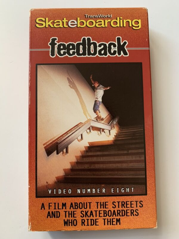 1999 Transworld Feedback VHS Skate Video #8 Skateboard Muska Reynolds Bam Rowley