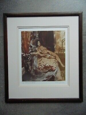Lawrence Jenkins 'Helen and Still Life' LE Signed Etching Reclining Nude