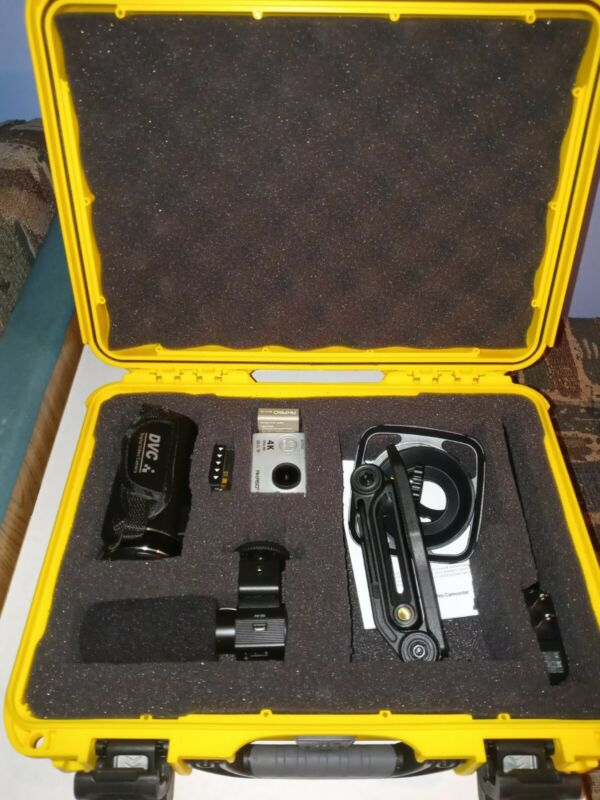 Youtube/vlog 2 Camera Kit video and action cam with added attachments and case