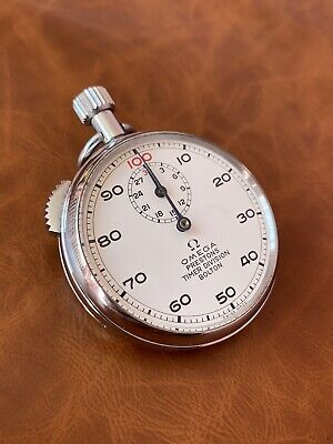 Vintage Rare Omega Stopwatch 1/100th Minute Working Perfectly