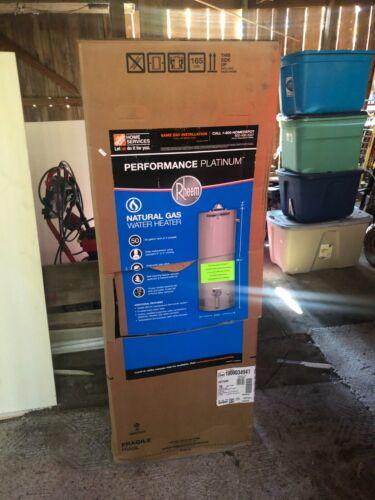 RHEEM 50 GALLON GAS HOT WATER TANK--NEW IN BOX