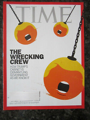 Time Magazine November 6, 2017 Donald Trump The Wrecking Crew