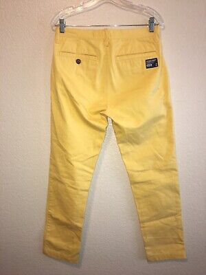 Superdry Chino Pants Slim Small - 2 Yellow Must See Description