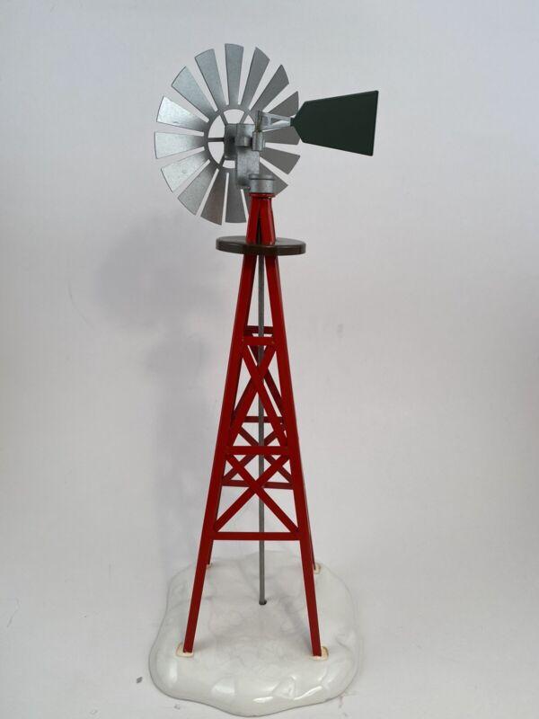 """Dept 56 Original Snow Village Windmill 54569 Metal Ceramic 12"""" Tall w Box EUC"""