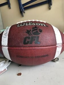 Edmonton Eskimos CFL game used football