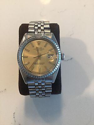Rolex 1603 Vintage Steel Datejust NON-Quickset 36MM Yellow Dial