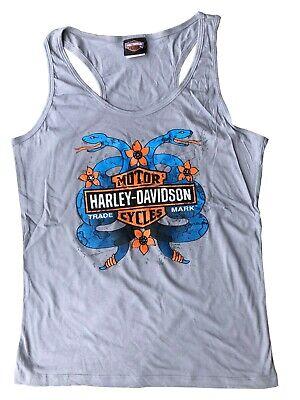Ladies Harley Davidson New 100% Cotton Blonde vest Summer Tank Top S - XL 74