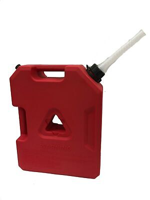 3 Gallon Plastic Jerry Can Refill Tank Gasoline Diesel Petrol Fuel Water Nozzle
