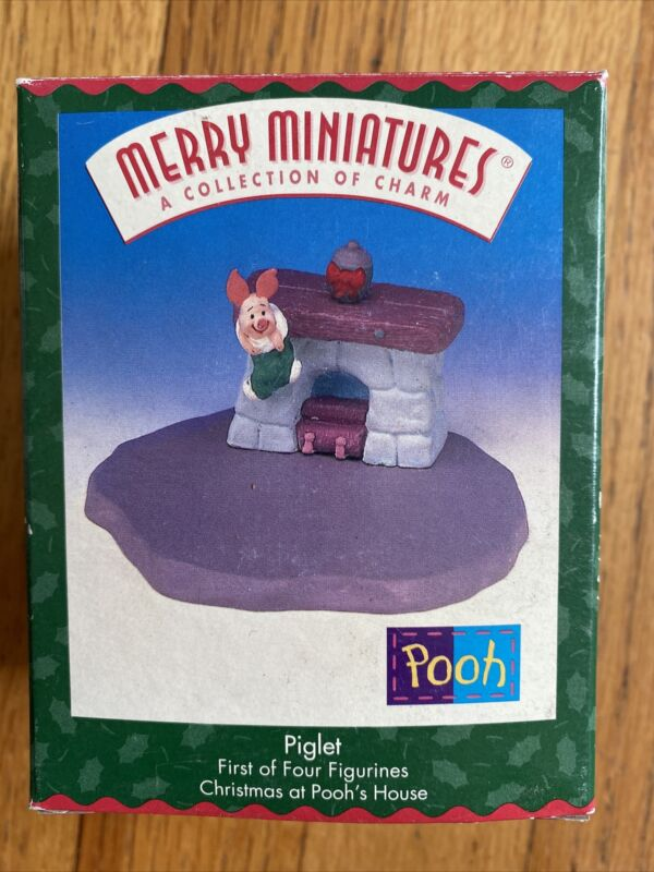 Hallmark Merry Miniatures Christmas at Pooh's House Disney Piglet 1st In Series