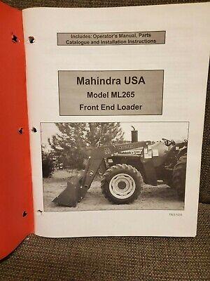 Mahindra Tractors Ml265 Front End Loader Operators Manual Plus Sales Brochure