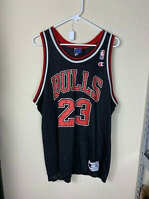Mens 48 Champion NBA Chicago Bulls #23 Michael Jordan Basketball Jersey VTG