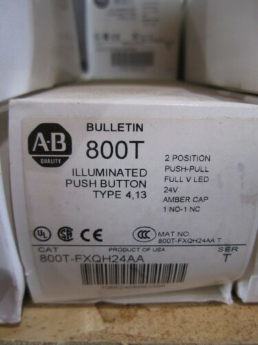 NEW ALLEN BRADLEY 800T-FXQH24AA PUSH BUTTON