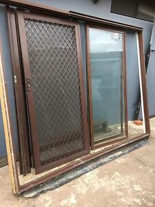 3 panel brown aluminium sliding door Casula Liverpool Area Preview