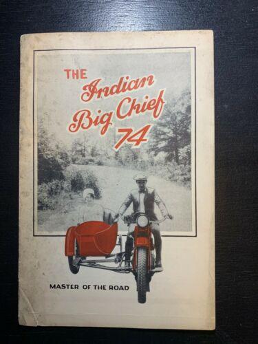 Original 1928 Vintage Print Indian Motorcycle Company Sales Brochure