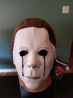 Halloween 2 Trick Or Treat Studios (Halloween 2 II Blood Tears Michael Myers Trick or Treat Studios Latex Mask NWT)