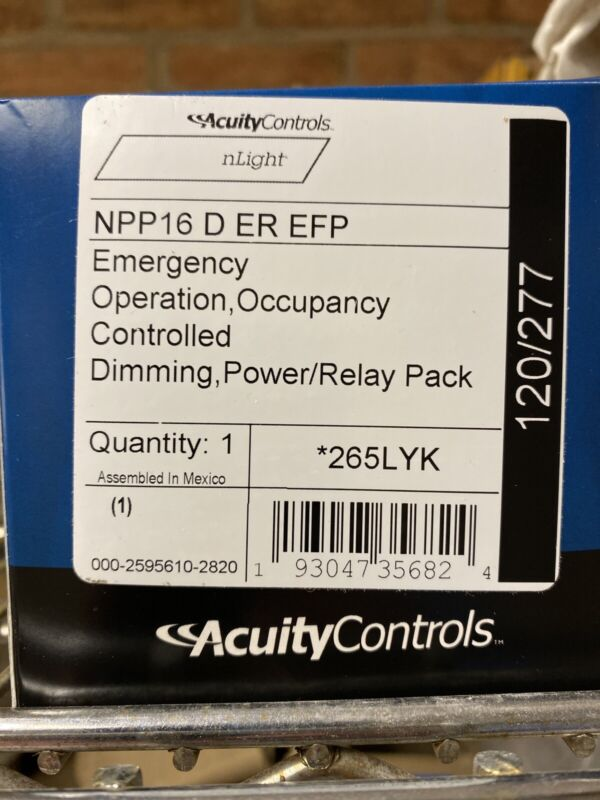 Pack of 1 -Acuity Controls NPP16DEREFP Power/Relay Pack Emergency Operation
