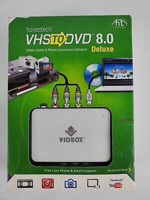 Honestech VIDBOX VHS to DVD 8.0 VHS to DVD converter New Sealed in Box