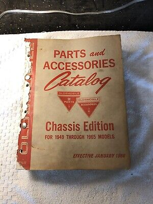 Original Oldsmobile Parts And Accessories Catalog Manual Chassis 1949-1965