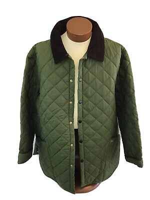 Barbour Liddesdale Quilted Jacket Mens XL Olive D 348 Used