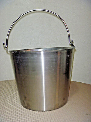 Heavy Duty Polar Ware Bucket Stainless Steel 13 Qt 12-n Milking Maple Syrup Pail