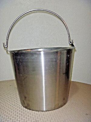 Heavy Duty Polar Ware Bucket Stainless Steel 13 Qt 12-n Milking Maple Syrup Pail