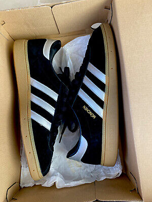 Adidas munchen 9.5, Black And silver / Gum sole, Worn Once.