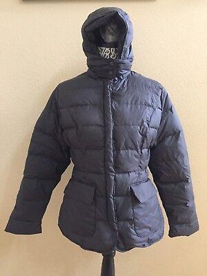 Ugg Women Dani Ridge Black Puffy Down Parka Jacket Coat Size M    New